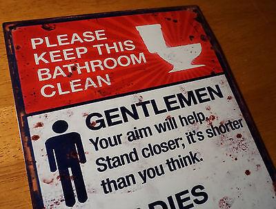 Gentlemen ladies please keep this bathroom clean funny for Please keep bathroom clean