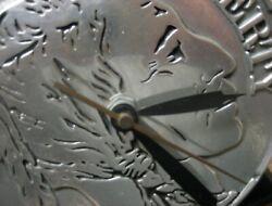 Vintage Novelty Buffalo Indian Head Nickel Desk Clock-Working-RARE