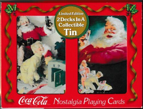 2 Decks Coca Cola 1996 Nostalgia Limited Edition Playing Cards Collectible Tin