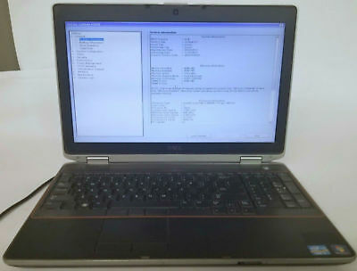 DELL LATITUDE E6520 INTEL i7-2640M 2.80GHz 8GB RAM 15.6