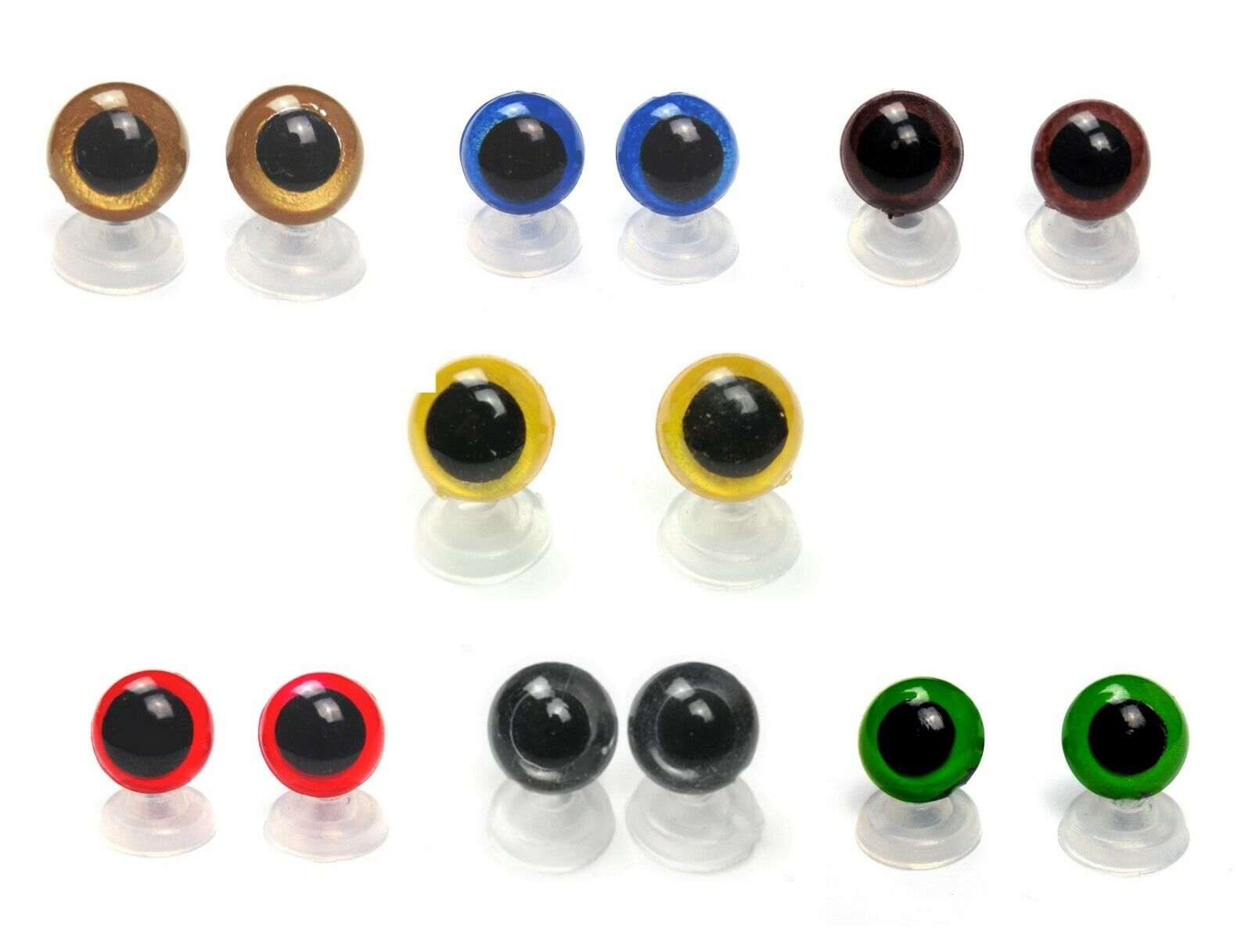 8-20 mm Plastic Safety Eyes Blue Green Red Brown Amber Amigurumi Toy Teddy Bear  - 2