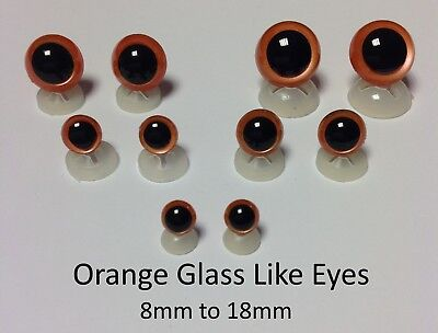 GLASS LIKE EYES - PLASTIC BACKS Teddy Bear Making Soft Toy Doll Animal Craft  - 9
