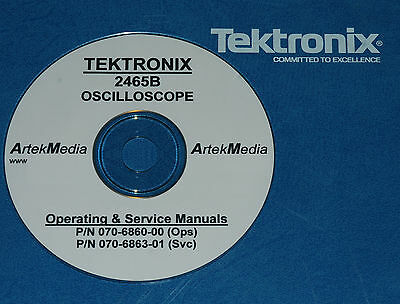 Tektronix 2465b Operating Service Manuals 2