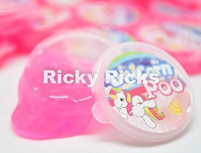 8 Slime Unicorn Poo Magical Squishy Pink Poop Putty Party Favors Unicornio