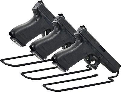 Handgun Stand Rack Pistol Pack of 3 Gun Vinyl Coat Metal Safe Storage Solution