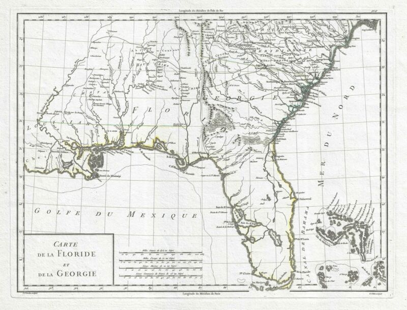 1798 Tardieu Map of Florida and Georgia