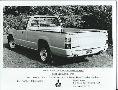 Mitsubishi L200 Long Wheel Base Pick-Up 2WD Original 1987 Press Photograph