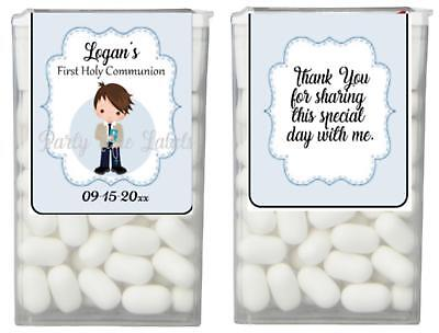 First Communion Party Favors for Boys Tic Tac Labels Stickers SET of 14 (Party For Boys)