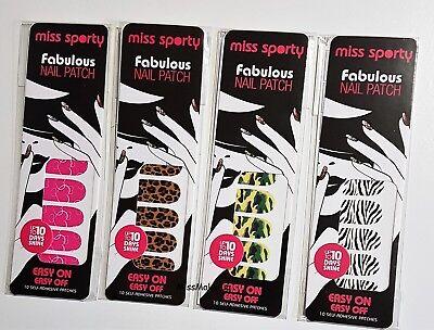 Miss Sporty Instant Manicure Nail Wraps Strips Pink Leopard Zebra Camoflage Pink Miss Zebra