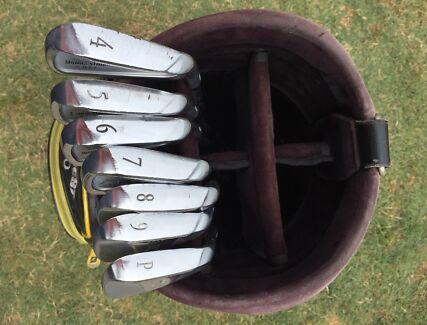 Bridgestone Golf Clubs - irons, new grips + bag