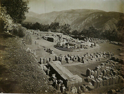 Delphi, the Marmaria Greek Vintage Silver photo, c. 1920