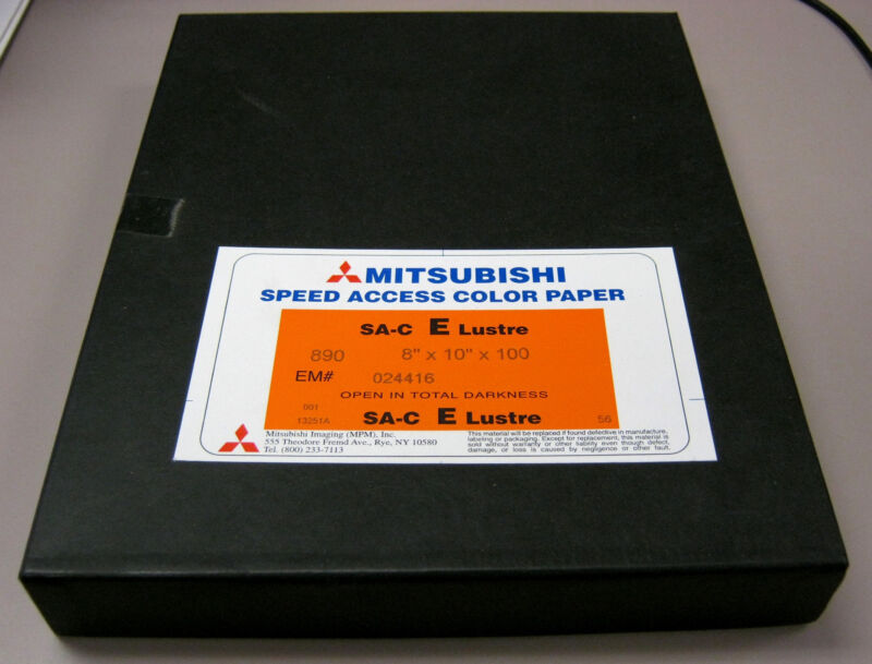 """100 Sheets Mitsubishi Speed Access RA-4 Color Paper 8"""" x 10"""" E Lustre Surface"""