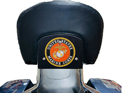 Marine Corps Backrest Mount Plate for Harley Davidson Touring Bikes