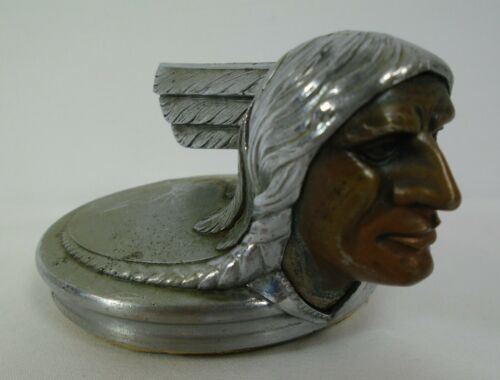 1929 PONTIAC Cabriolet Hood Radiator Cap Indian Chief Original Not Restored