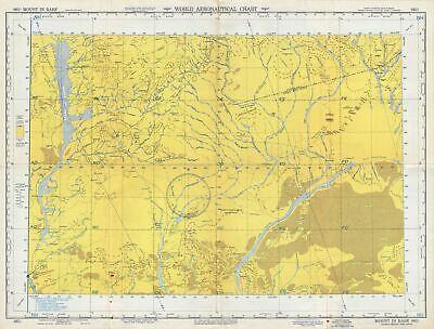 1954 U.S. Air Force Aeronautical Chart or Map of Eastern Mali, Africa