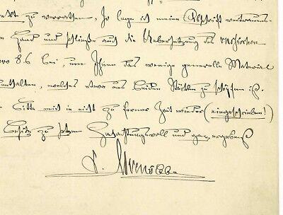 C. von ALVENSLEBEN (1809-1892) Preußen General 1870/1871 Stuttgart Autograph
