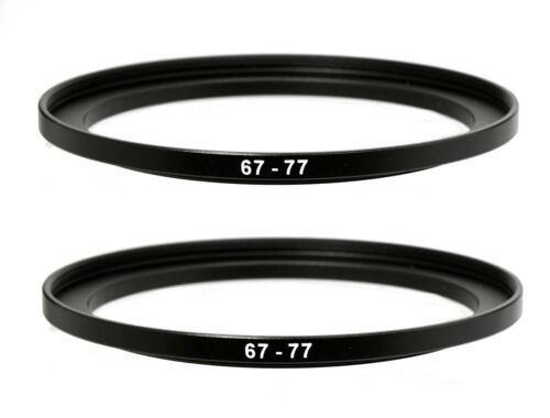 (2 Pack) 67-77mm 67 mm to 77 mm Metal Step Up Lens Filter Ring Adapter US Seller