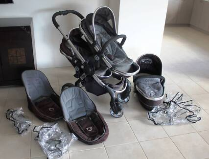 icandy peach - double pram with all accessories Butler Wanneroo Area Preview