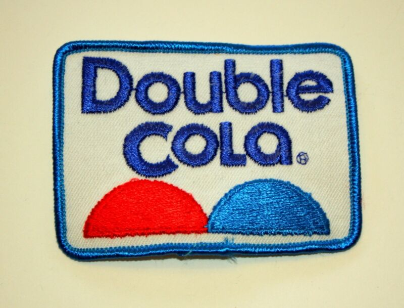 Rare Vintage Enjoy Double Cola Soda Cloth Patch 1970s NOS New