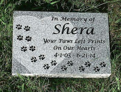 Personalized pet memorial head stone grave marker- 2