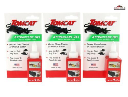 3 Mouse Rat Mice Attractant Bait Lure Gel ~ New