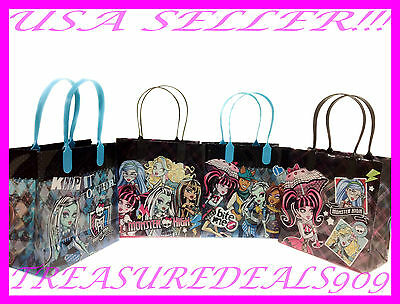 MONSTER HIGH PARTY FAVOR GOODIE BAGS *12 PIECES* MATTEL CANDY GIFT BIRTHDAY BAG