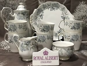 Royal Albert Silver Maple Coffee Set for 6