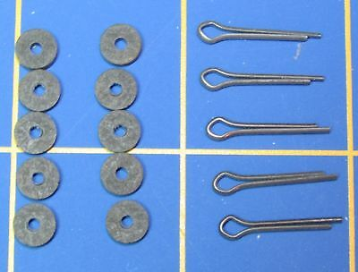 """For Jointed Teddy Bear = 10 - 1/4"""" Hardboard Discs 5 - Cotter Pins"""