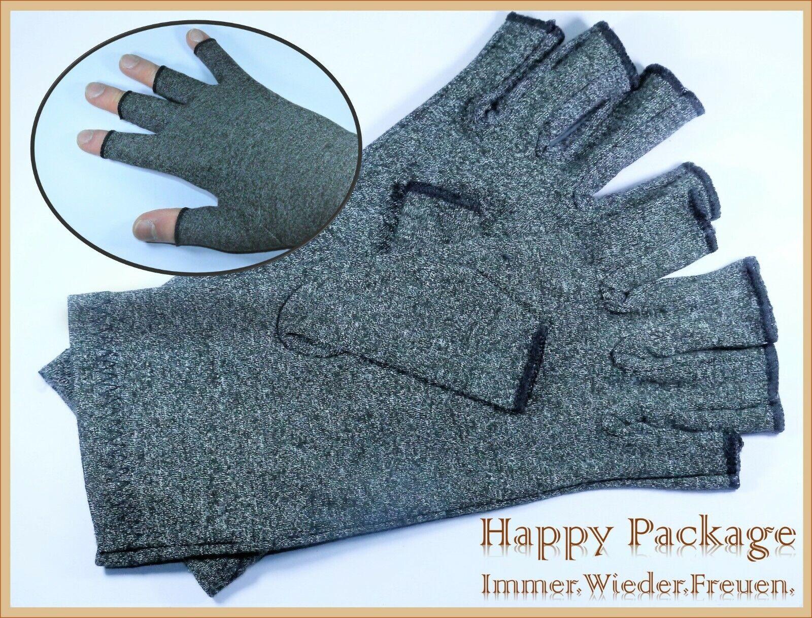 Arthritis Kompressions-Handschuhe Gloves wirkt schmerlindernd bei Rheumatoide 2 Paar Schwarz DISUPPO Arthritis Handschuhe f/ür Herren Damen XL 9-10cm