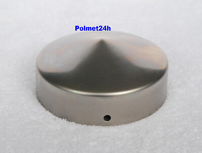 Pfostenkappe verzinkt 71x71 mm Kugel Abdeckkappe Pfostenabdeckung 7x7 cm 4 St