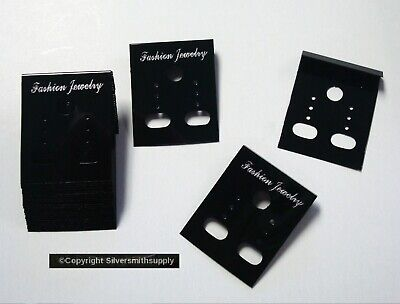 25 Black Acrylic Earring Display Cards Pierced Clip On Jewelry Display Jd038