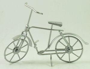 Deko-Fahrrad, Modell, aus Metall, silberfarben, edel, Geschenkidee, Dekoration