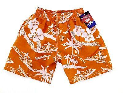Badeshorts Badehose für Jungen+ Mädchen Bermuda Shorts Schwimmhose orange Gr 116
