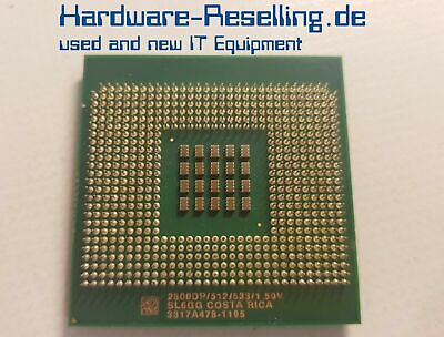 Intel Single (Intel Xeon 2800DP Single Core CPU 2.8GHz/512/533 Socket 604 - SL6GG)