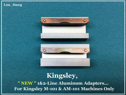 Kingsley Machine (  NEW 1&2-Line Aluminum Adapters  ) Hot Foil Stamping Machine
