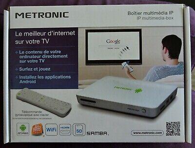 METRONIC Boitier MULTIMEDIA , USB, NAV . INTERNET Smart TV Box IP