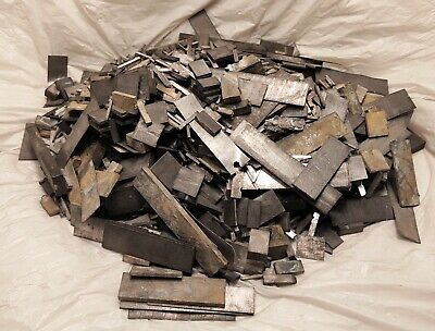 25 Pounds Linotype Metal Hard Lead Spacer Scrap Printer Type Bullets Casting