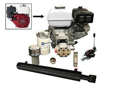 Log Splitter Kit With Honda 9hp Engine Incl. Flowfit Auto Kickout Lever Valve