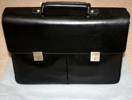 Brand New Oroton Briefcase - Black, Double Gusset, Timeless Style Sydney City Inner Sydney Preview