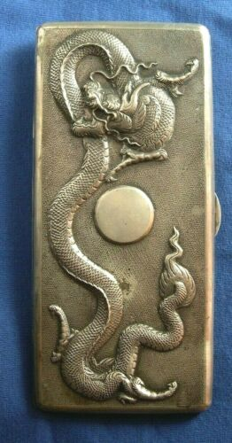 348-Antique chinese silver cigarette case