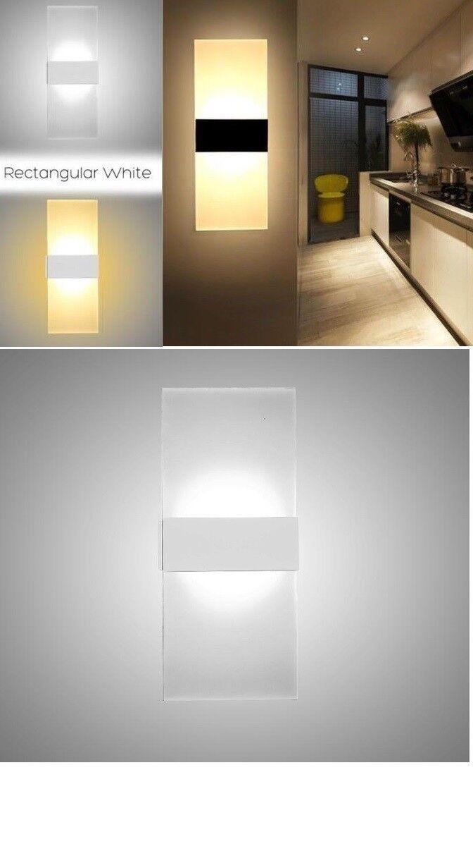 6W/12W LED Lampada Luce da Parete Muro Applique Moderno Esterno Interno Up Down