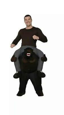 Carry Me Buddy Ride On A Shoulder Gorilla Suit Halloween Costume Mascot Adult - Gorilla Suit Halloween