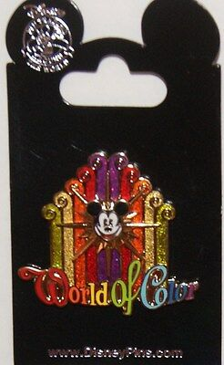 Disney DCA World Of Color Mickey Glitter Fountain Pin New On Card