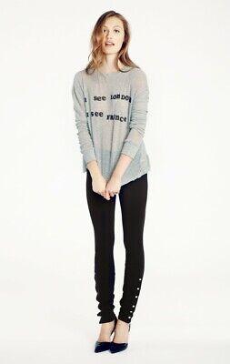 Wildfox Womens Scripted Snap Leggings Black XS New Snap-leggings