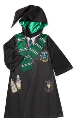 Harry Potter Slytherin Robe Costume Dress Up Book Day Complete Age 7/8 years