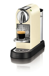 Nespresso CitiZ CREAM WHITE EN165.CW DeLonghi Coffee Machine BRAND NEW