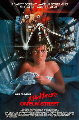 A NIGHTMARE ON ELM STREET MOVIE POSTER 27X40 WES CRAVEN 1984
