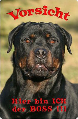 ROTTWEILER - A4 Metall Warnschild SCHILD Hundeschild Alu Türschild - RTW 10 T7