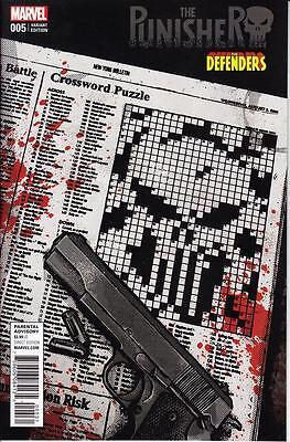 PUNISHER #5 DAVID AJA DEFENDERS VARIANT COVER MARVEL COMICS