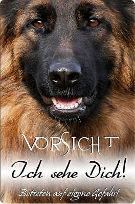 Deutscher SCHÄFERHUND - A4 Metall Warnschild Hundeschild Alu SCHILD - DSH 25 T5